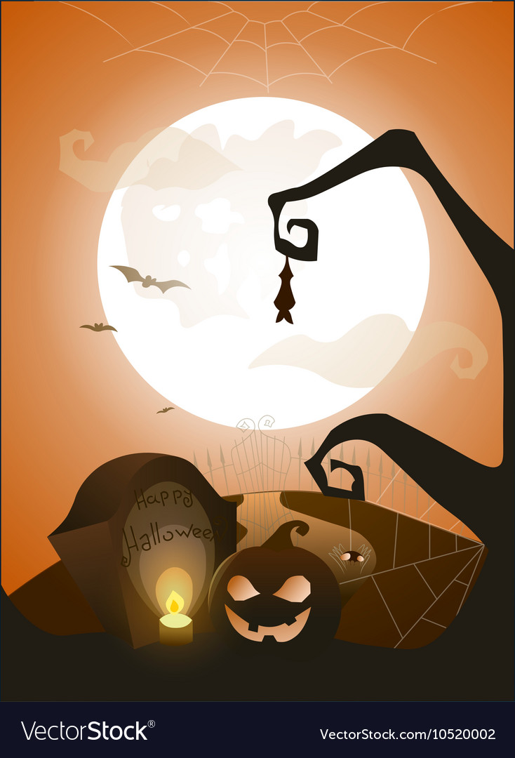 Blue Halloween background with full moon