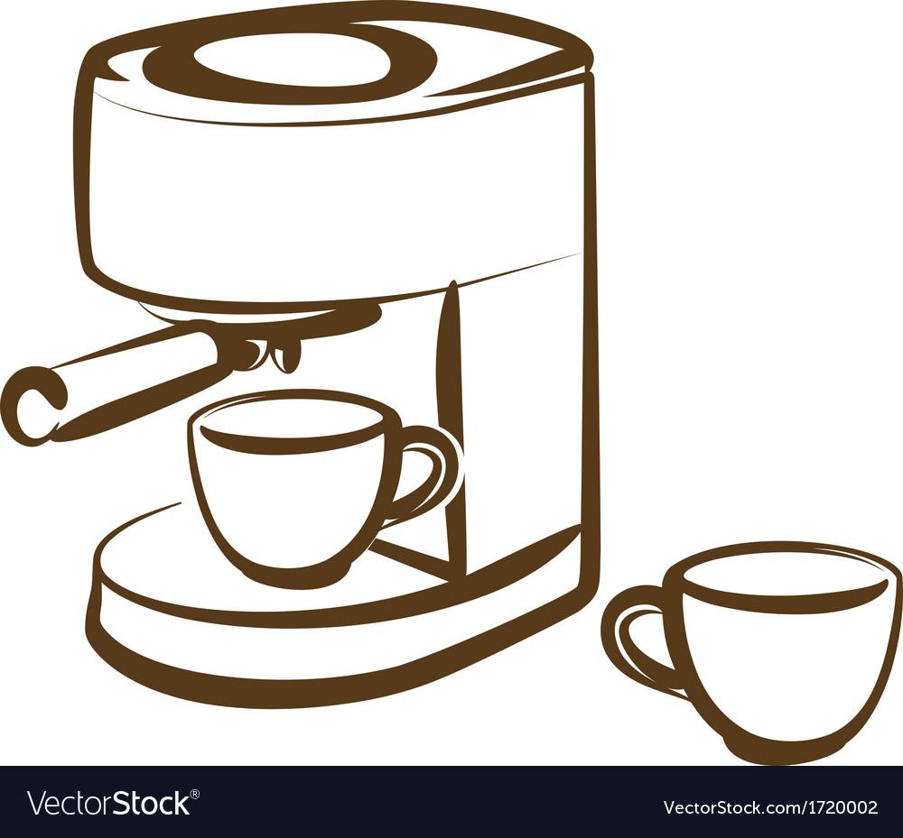 Coffee Machine Royalty Free Vector Image Vectorstock