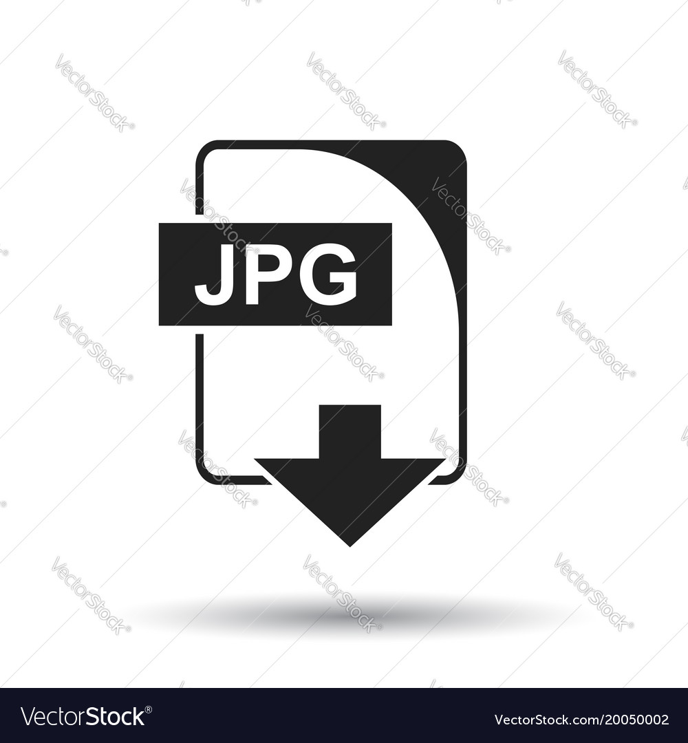 Jpg icon flat jpg download sign symbol with
