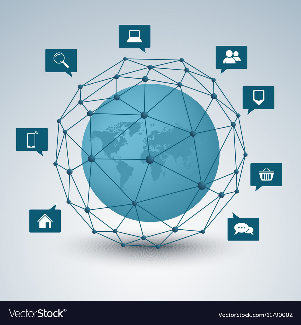 Network connection abstract design background Vector Image