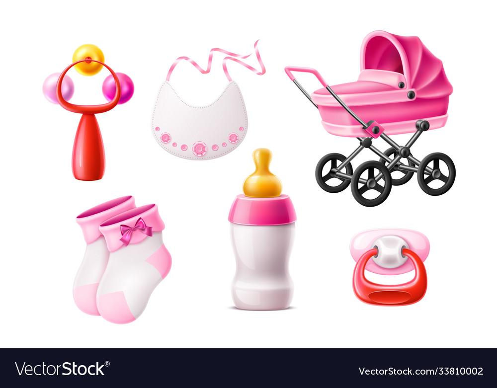 Realistic newborn infant baproducts set