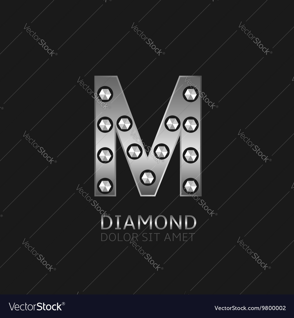 Silver M letter