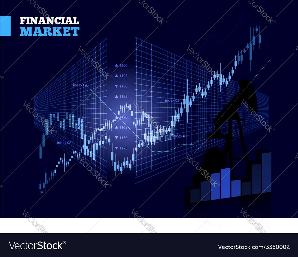 stock market chart royalty free vector image vectorstock