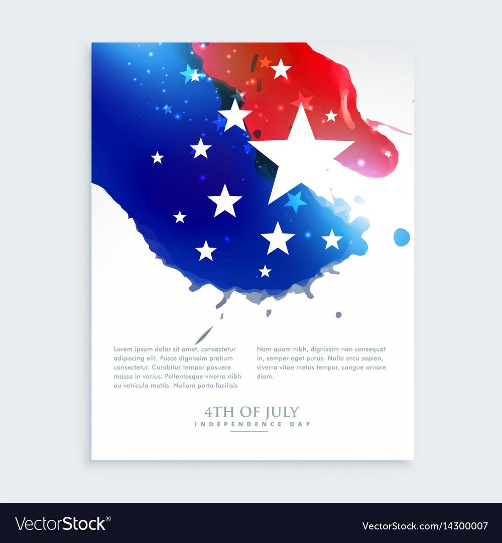 American 4th july flyer design
