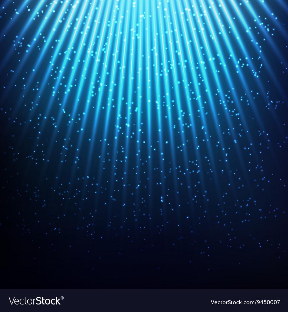 Cosmic blue lights vector image