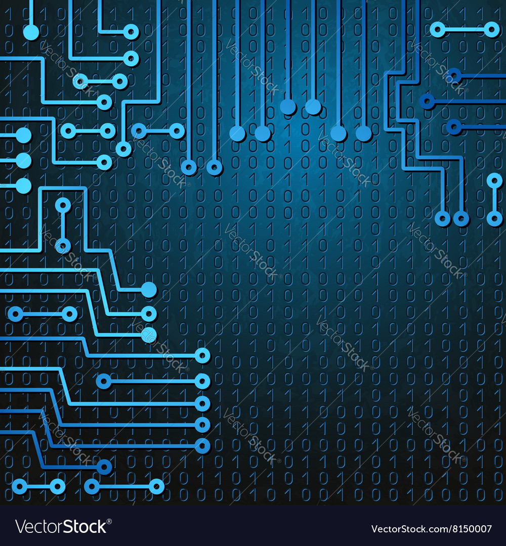 Electronic Circuit And Binary Code Royalty Free Vector Image Abstact Background With Board Stock Images