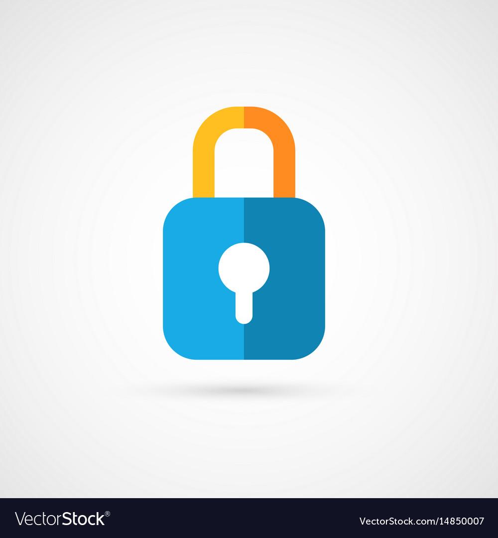 Flat icon of padlock