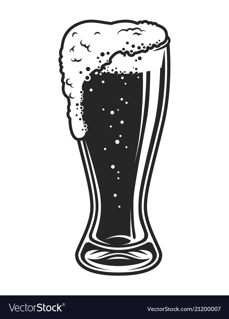 Full of beer glass cup template