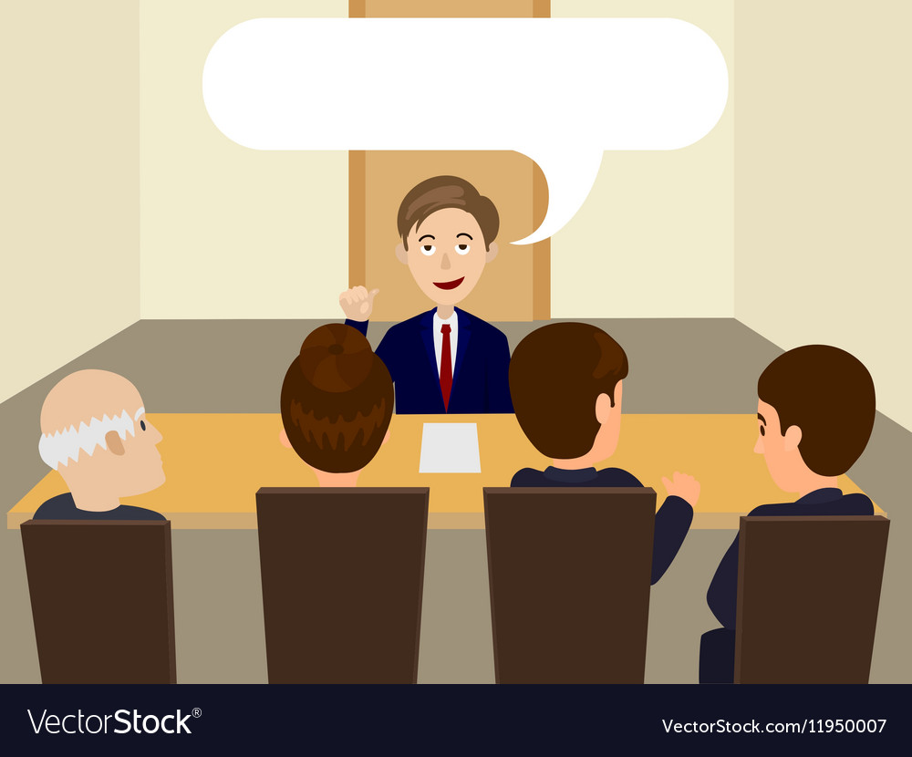 Man at the interview for job