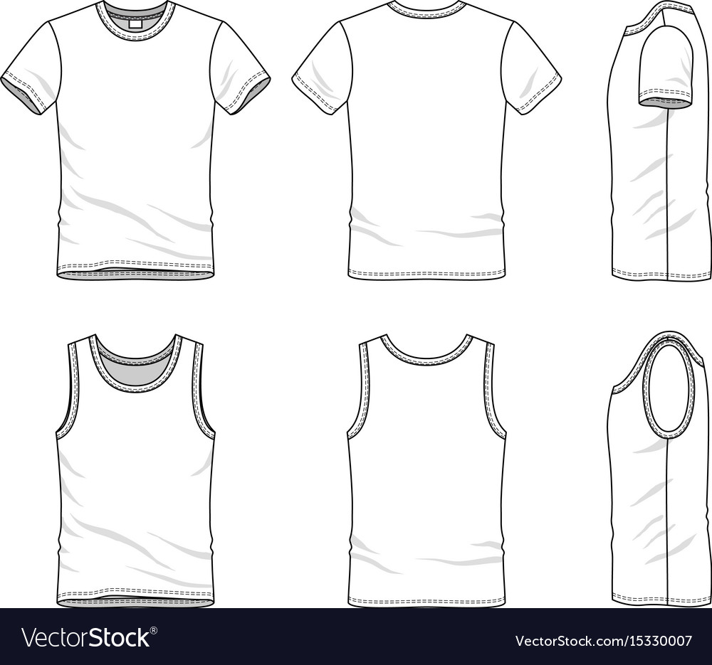Templates Of T Shirt And Vest Royalty Free Vector Image