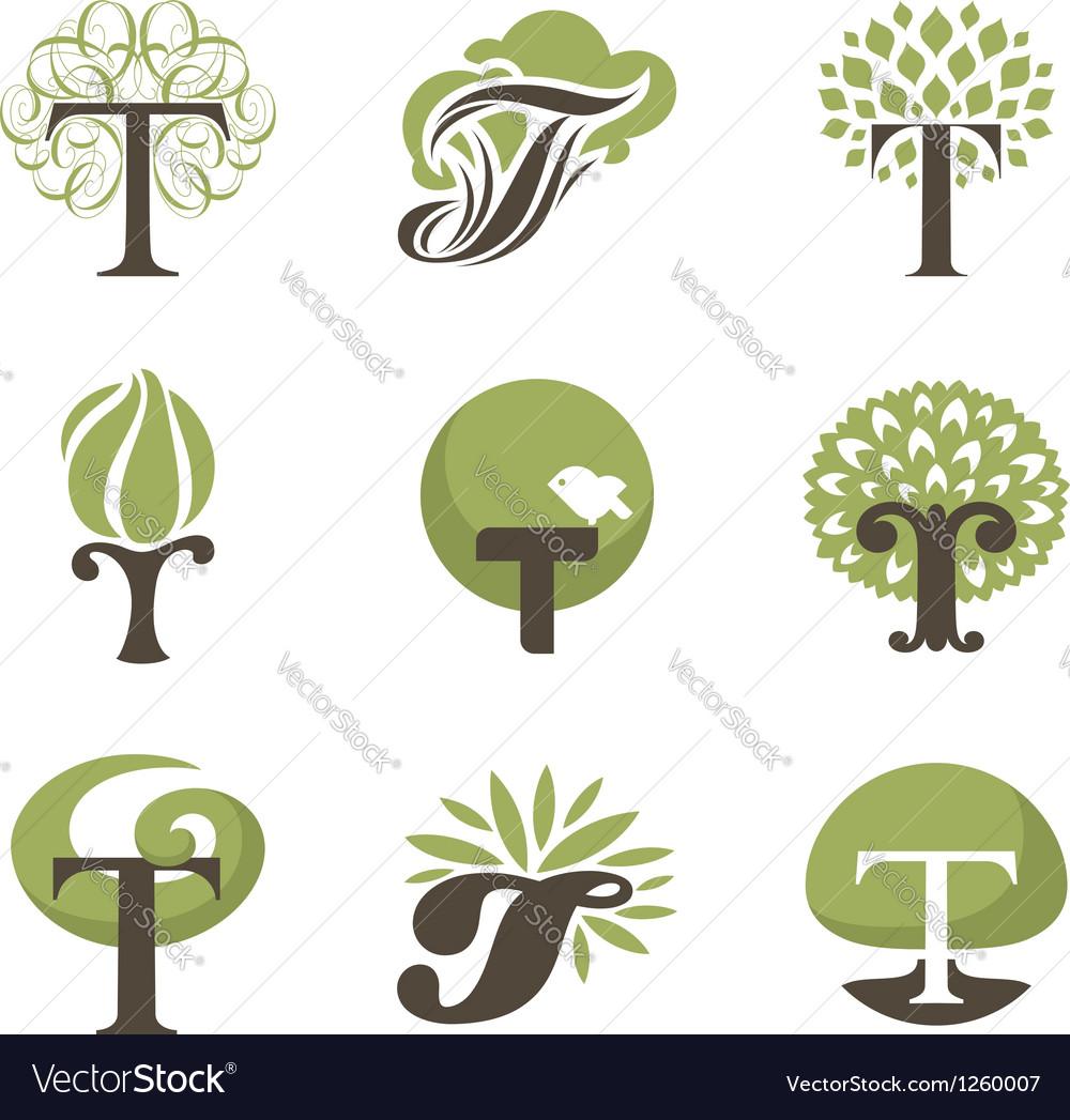 Tree - logo template set