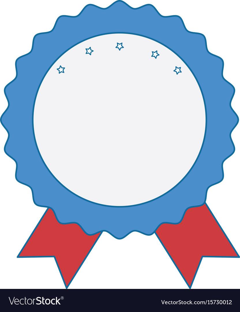 award ribbon blank royalty free vector image vectorstock