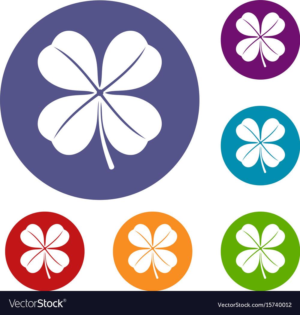 Clover leaf icons set