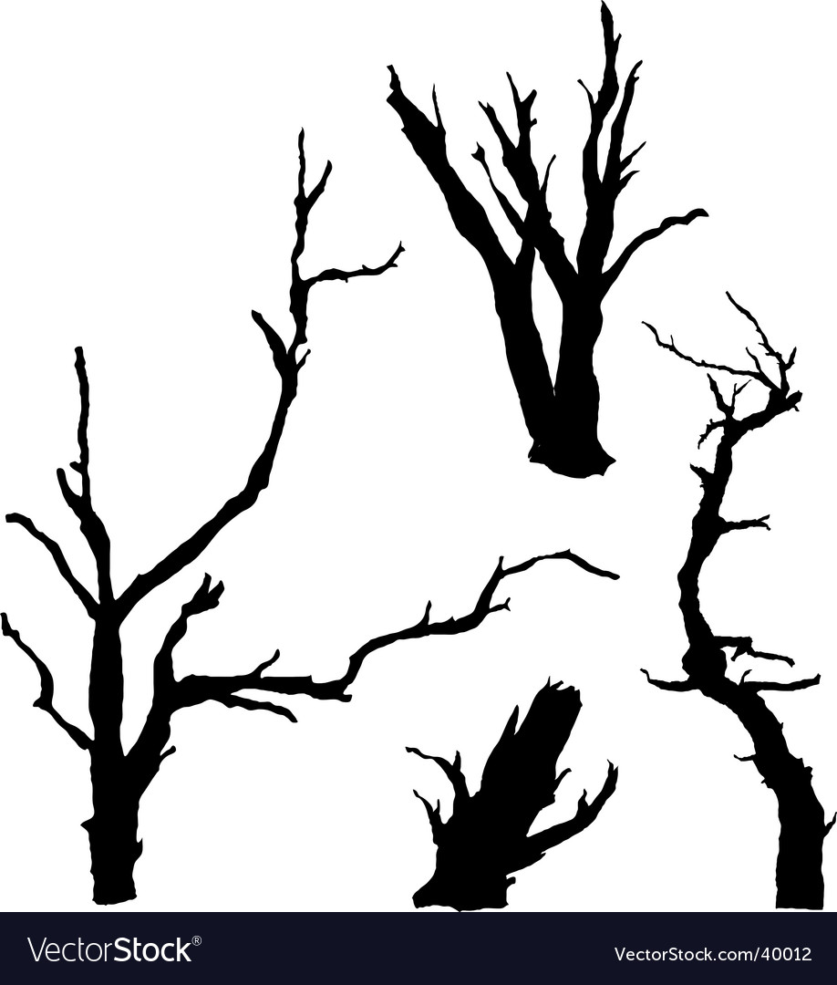dead trees royalty free vector image vectorstock rh vectorstock com Vector Dead Tree with Buds Vector Dead Tree with Buds