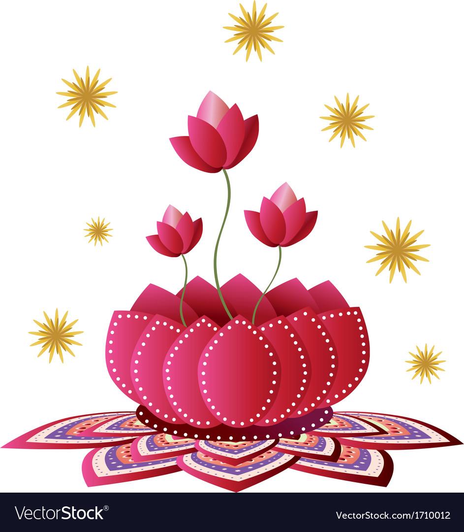 Lotus flower design royalty free vector image vectorstock lotus flower design vector image izmirmasajfo