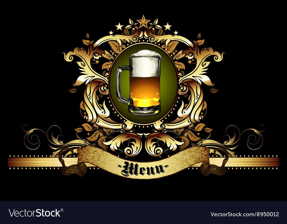 Menu design with beer