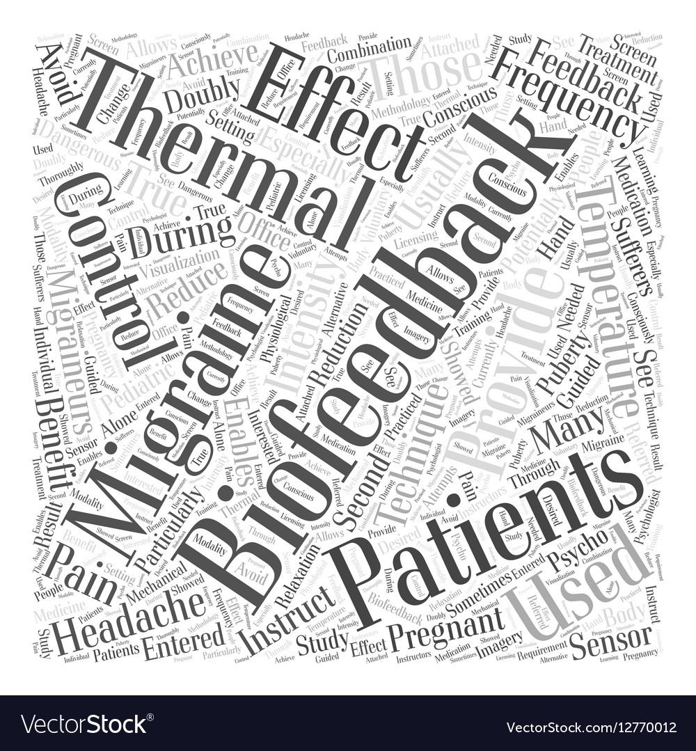 Thermal Biofeedback and Migraines Word Cloud