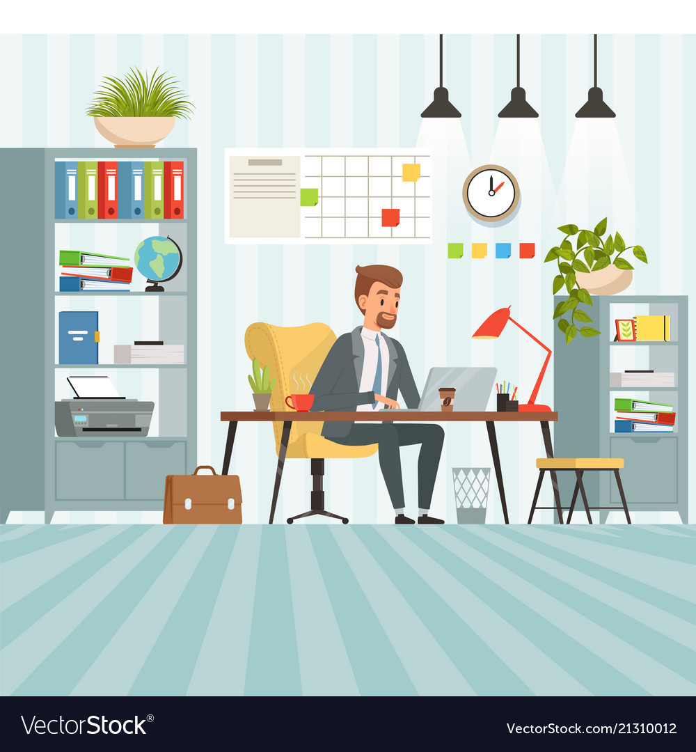 Workspace of busy businessman boss or company