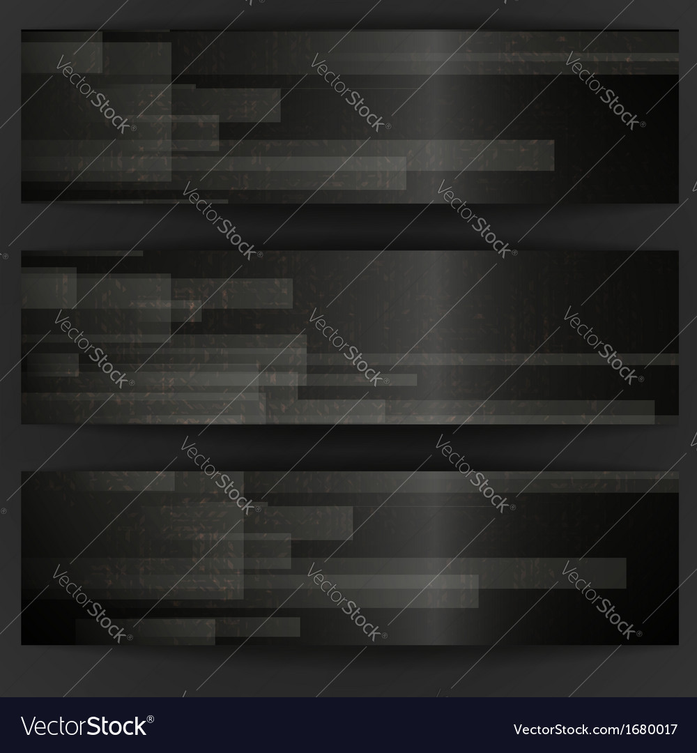 Abstract Black Rectangle Shapes Banner