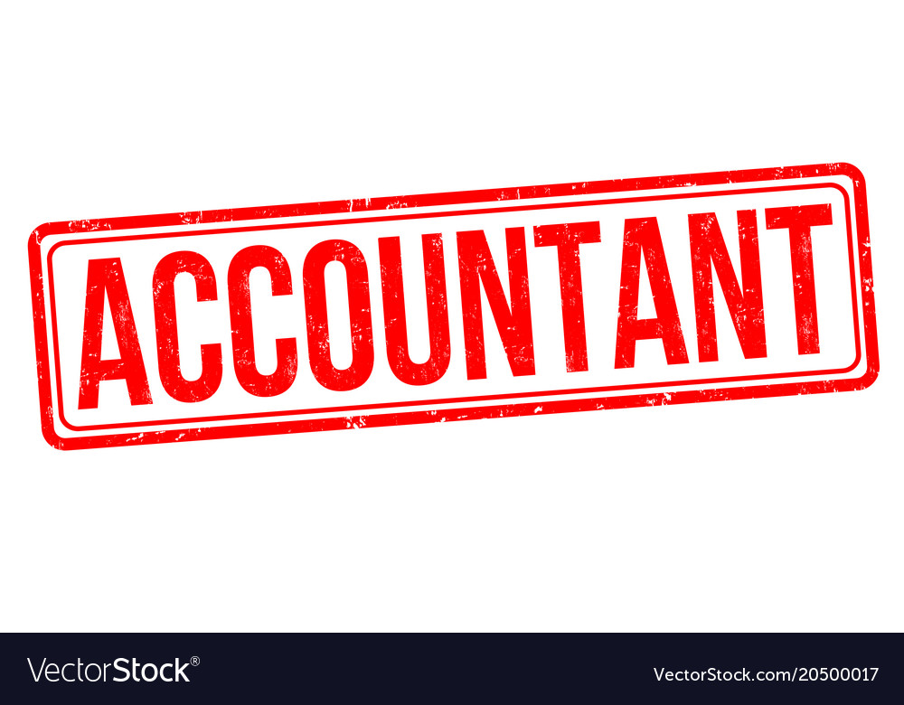 Accountant Grunge Rubber Stamp Vector Image