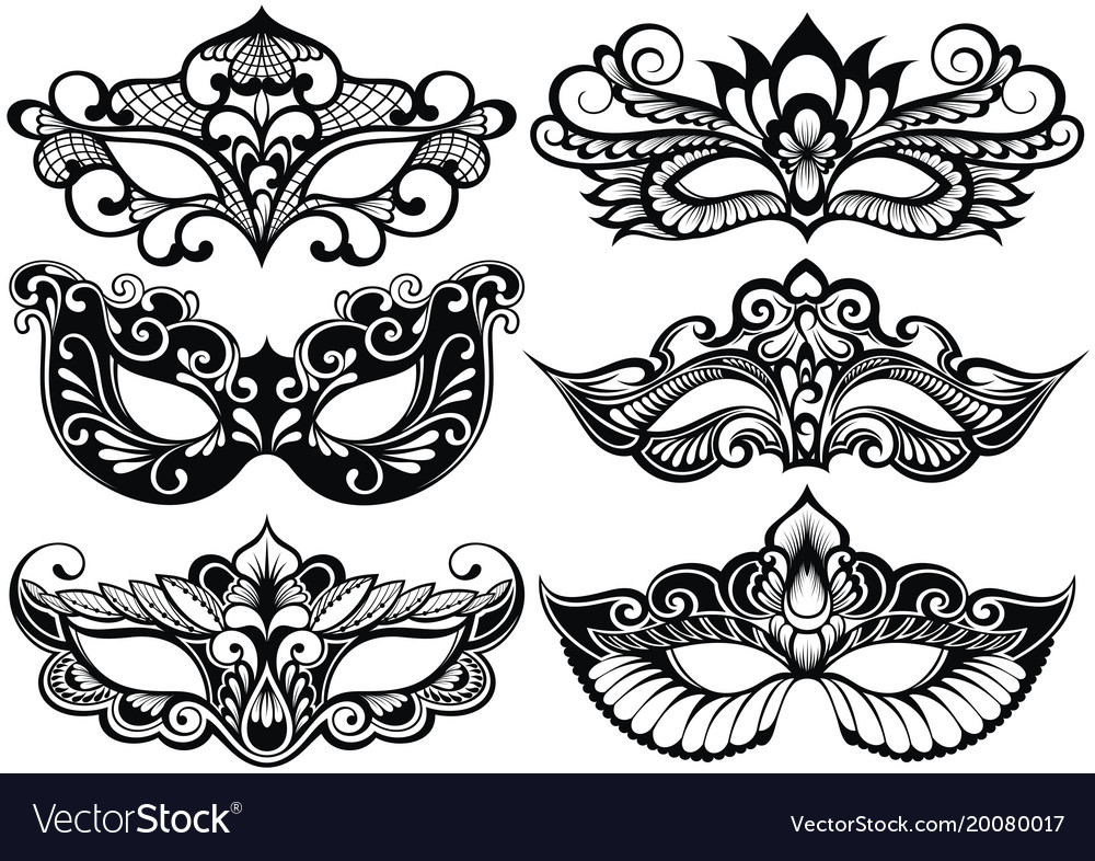 Face masks vector image
