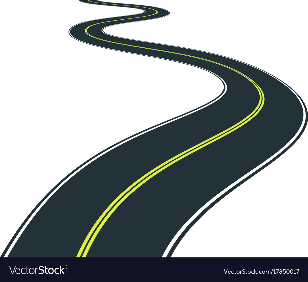 isolated road curves clip art royalty free vector image rh vectorstock com road vector eps road vector art