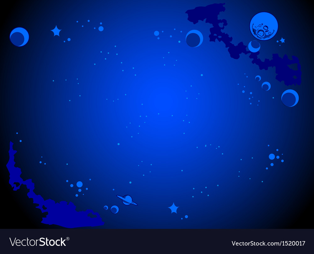 outer space cartoon background royalty free vector image