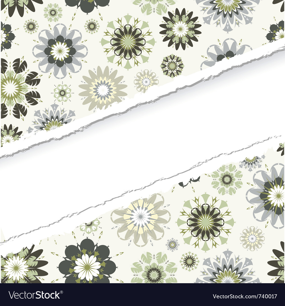 Ragged seamless pattern vector image
