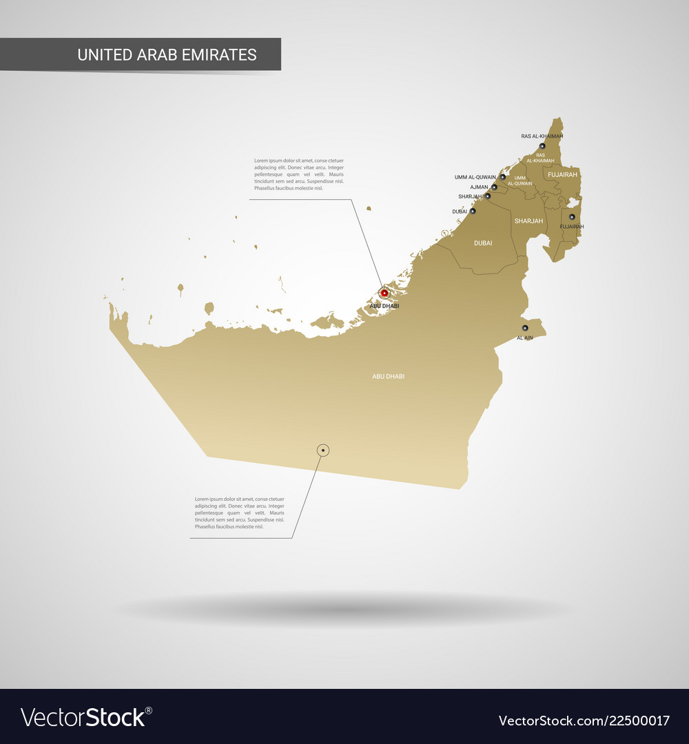Stylized united arab emirates map