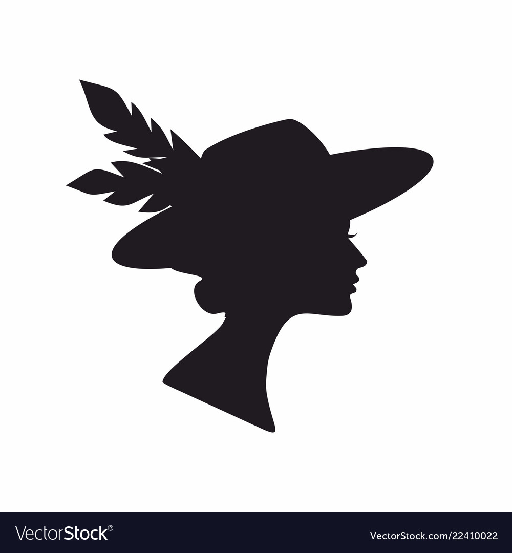 Abstract black silhouette woman