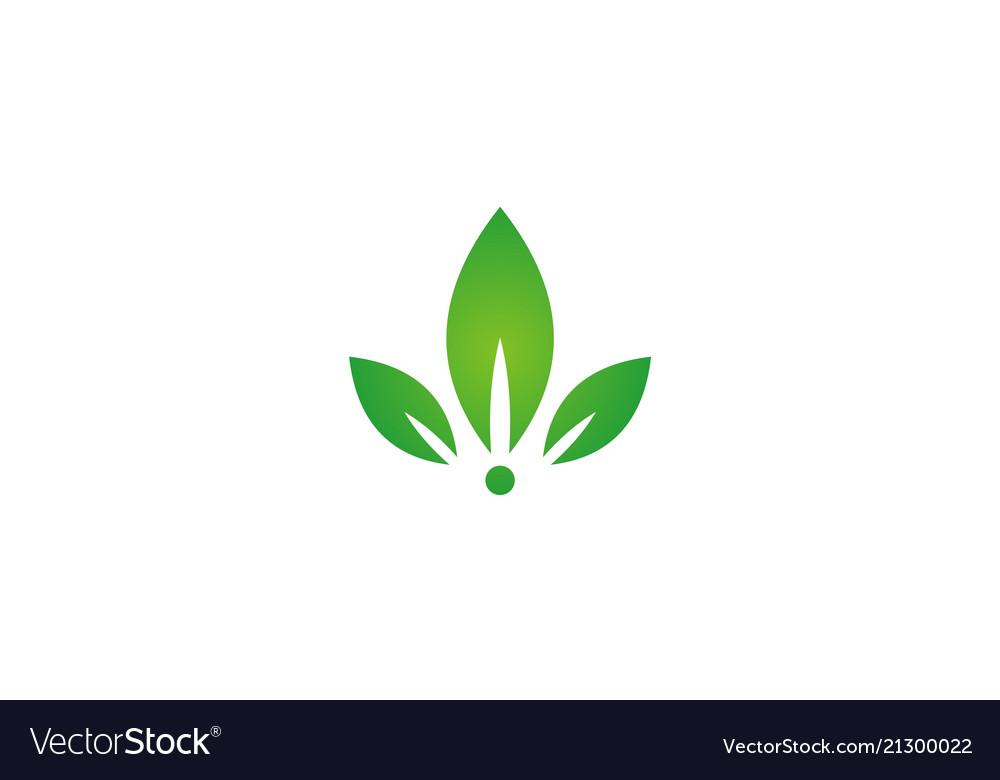 Beauty green leaf spa logo