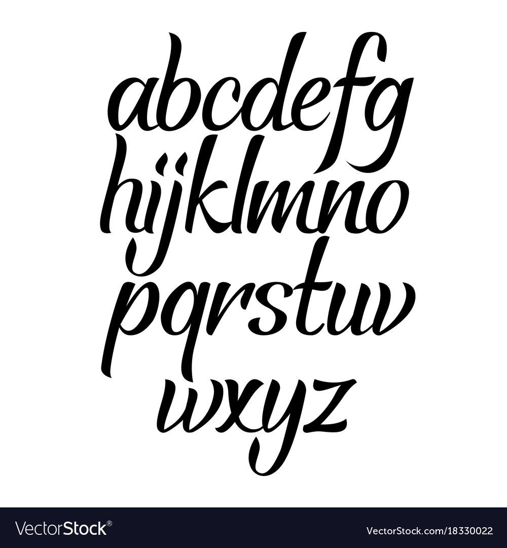 brush script calligraphy cursive type handwritten vector image