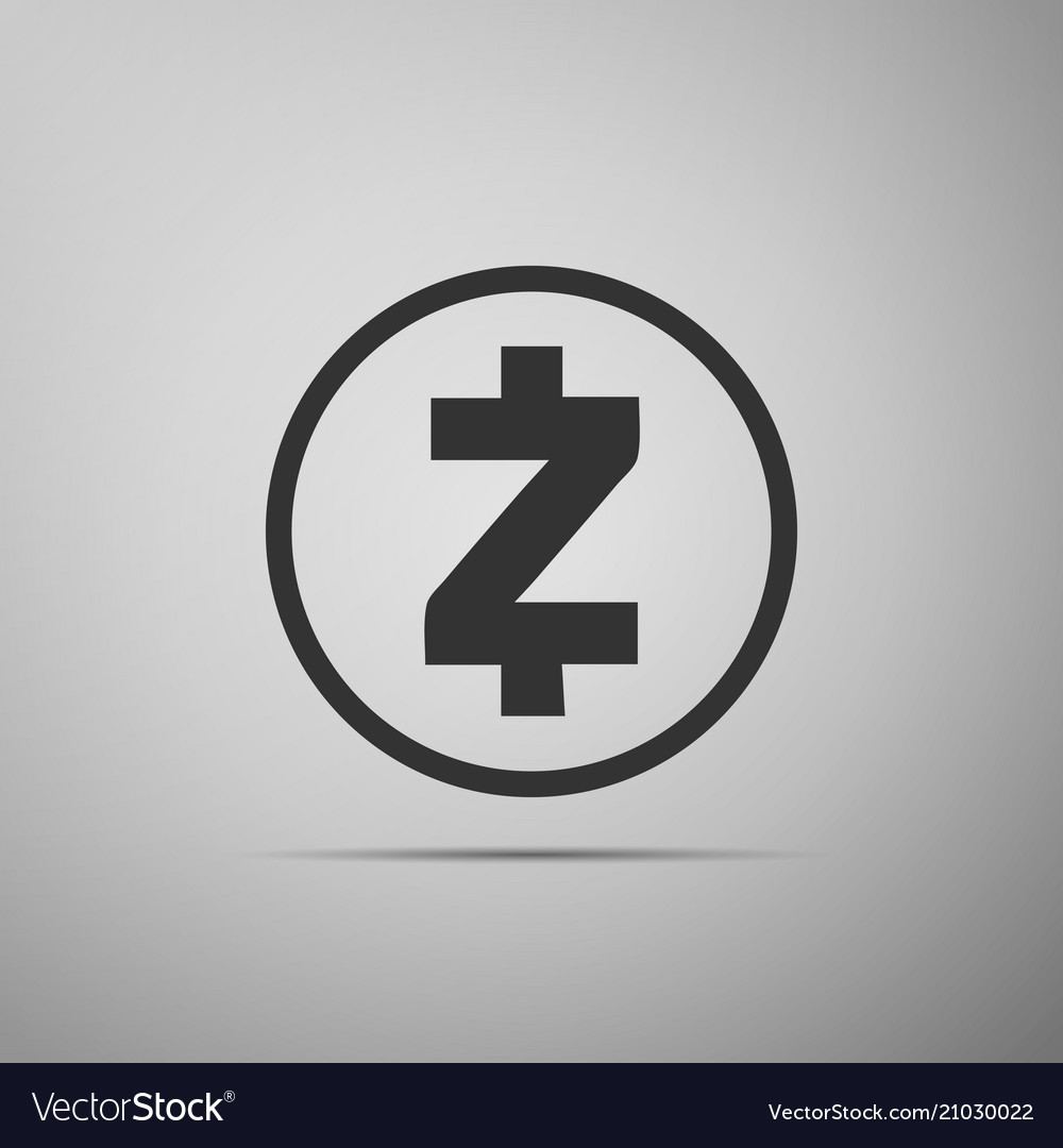 Cryptocurrency Coin Zcash Zec Icon Isolated On Vector Image