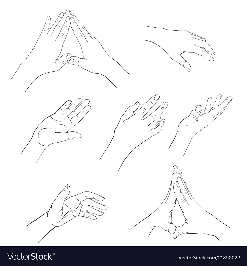 Hand drawn woman hand