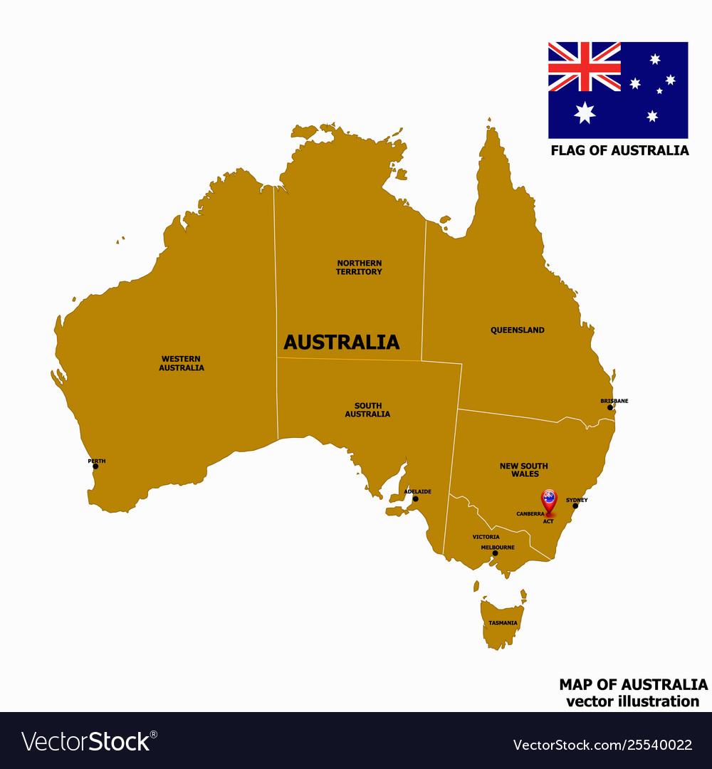 Melbourne Map Australia.Map Australia Vector Image