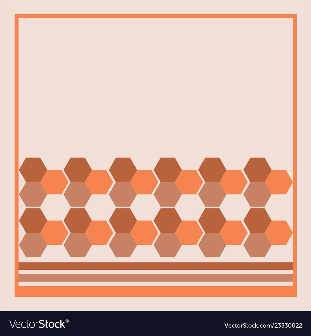 Pattern hexagon background