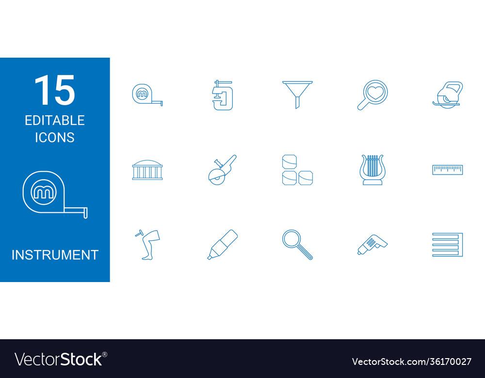 15 instrument icons