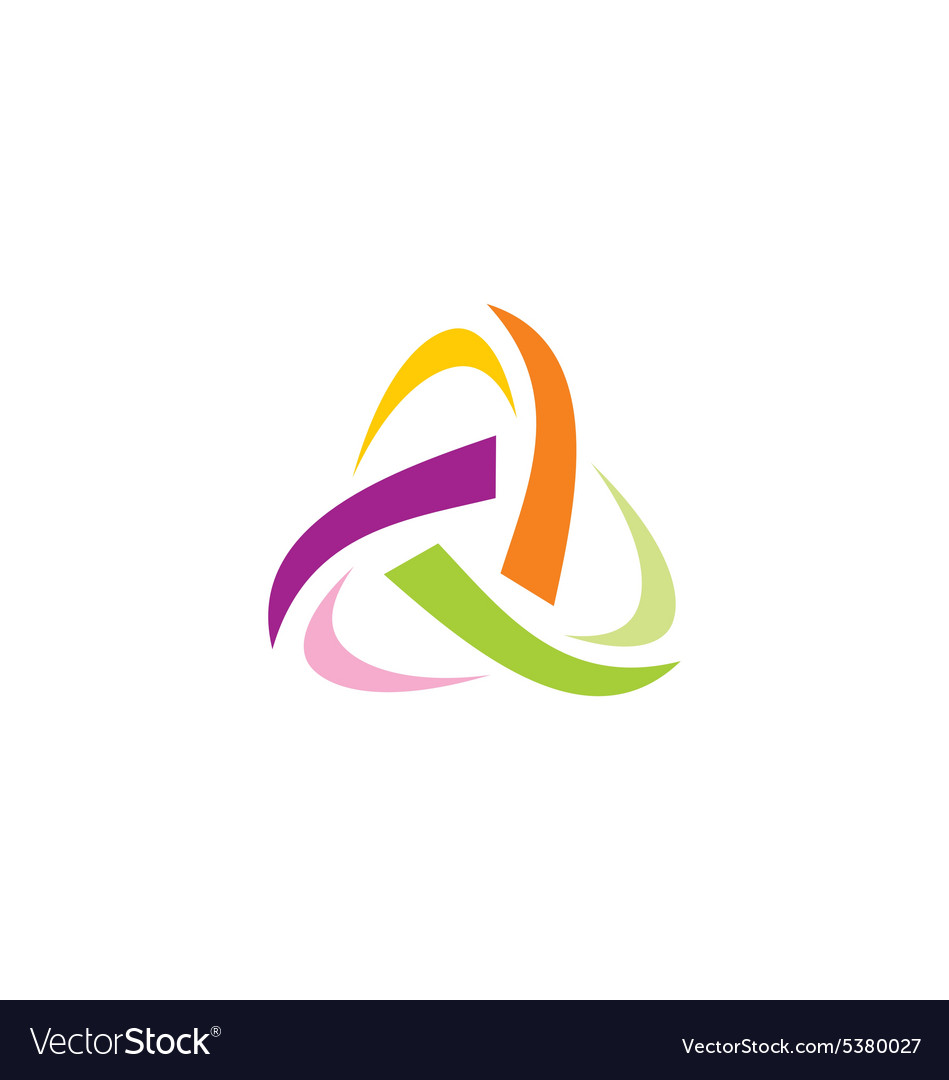 Abstract triangle circle technology logo