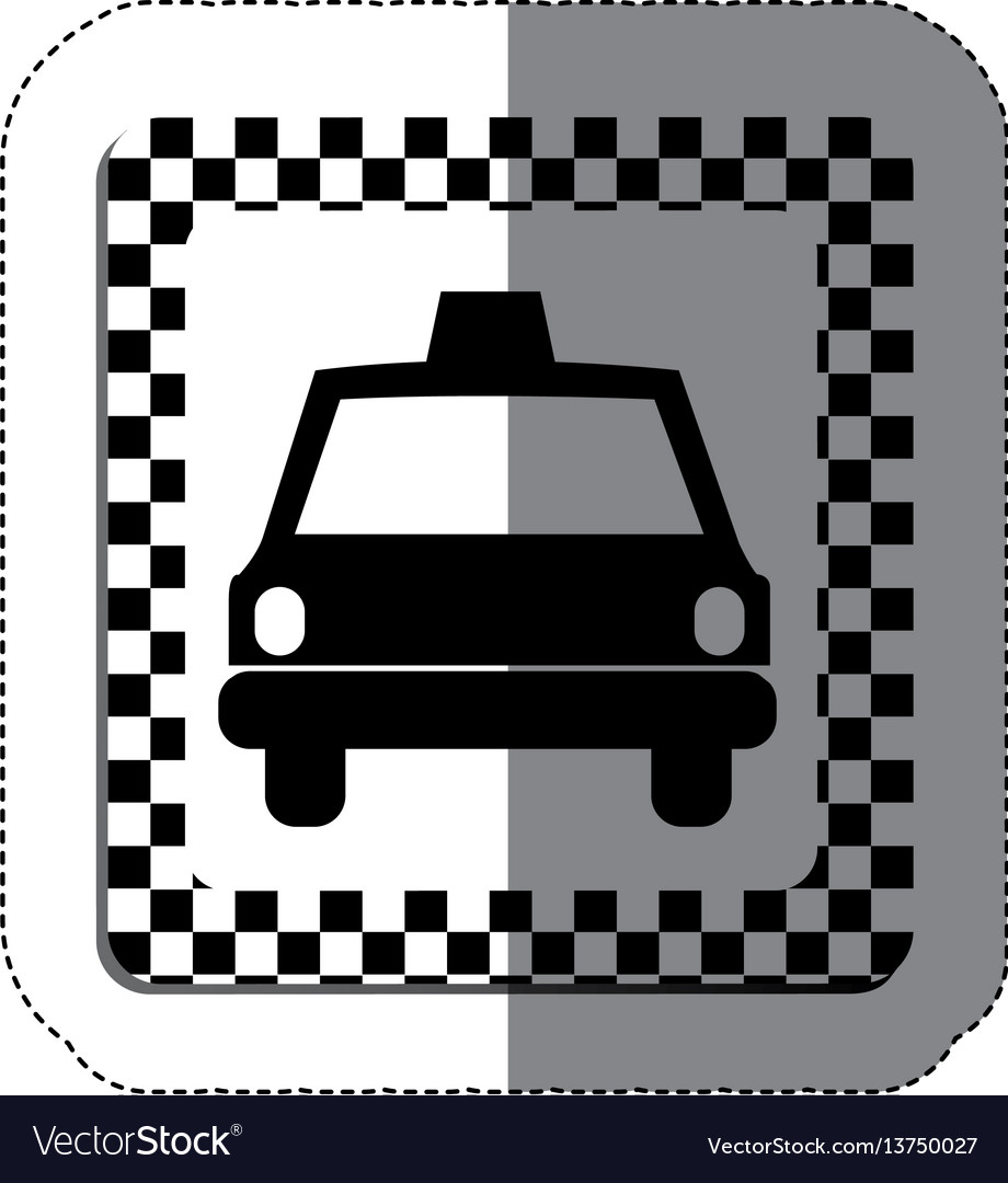 Border taxi front car icon