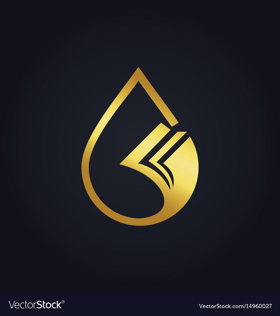 Droplet data paper gold logo