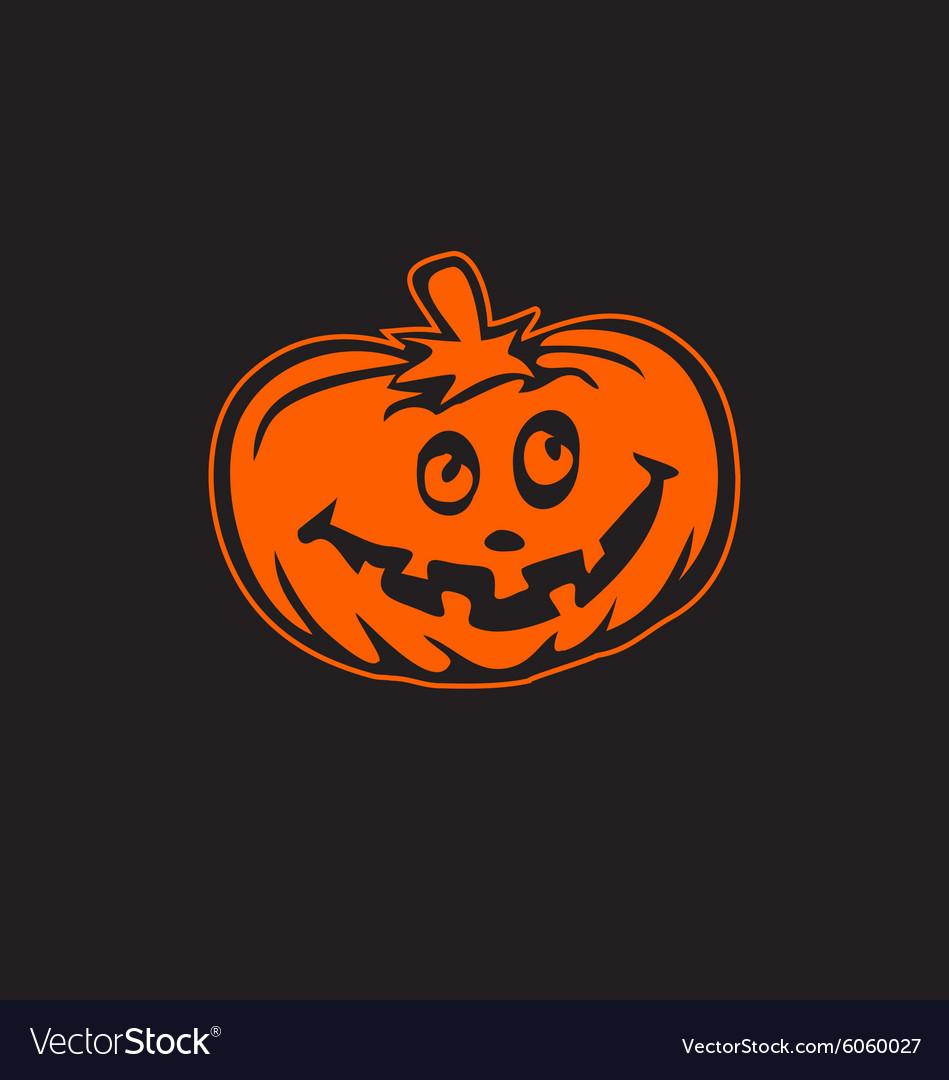 Halloween pumpkin icon logo esign element vector image