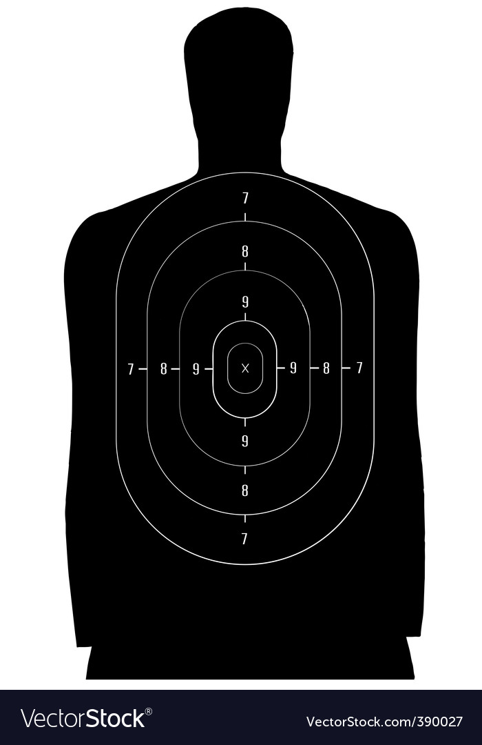 Human target vector image