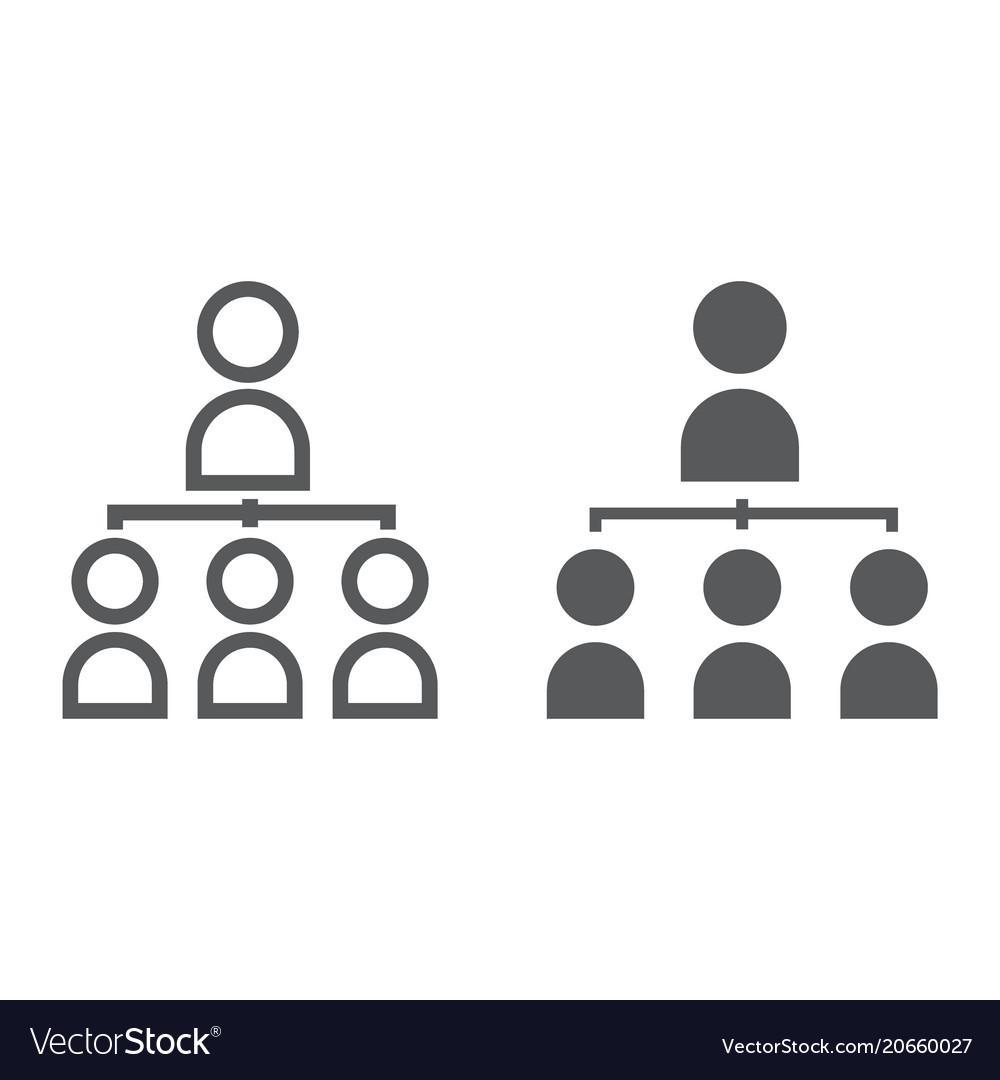 Leadership line and glyph icon development