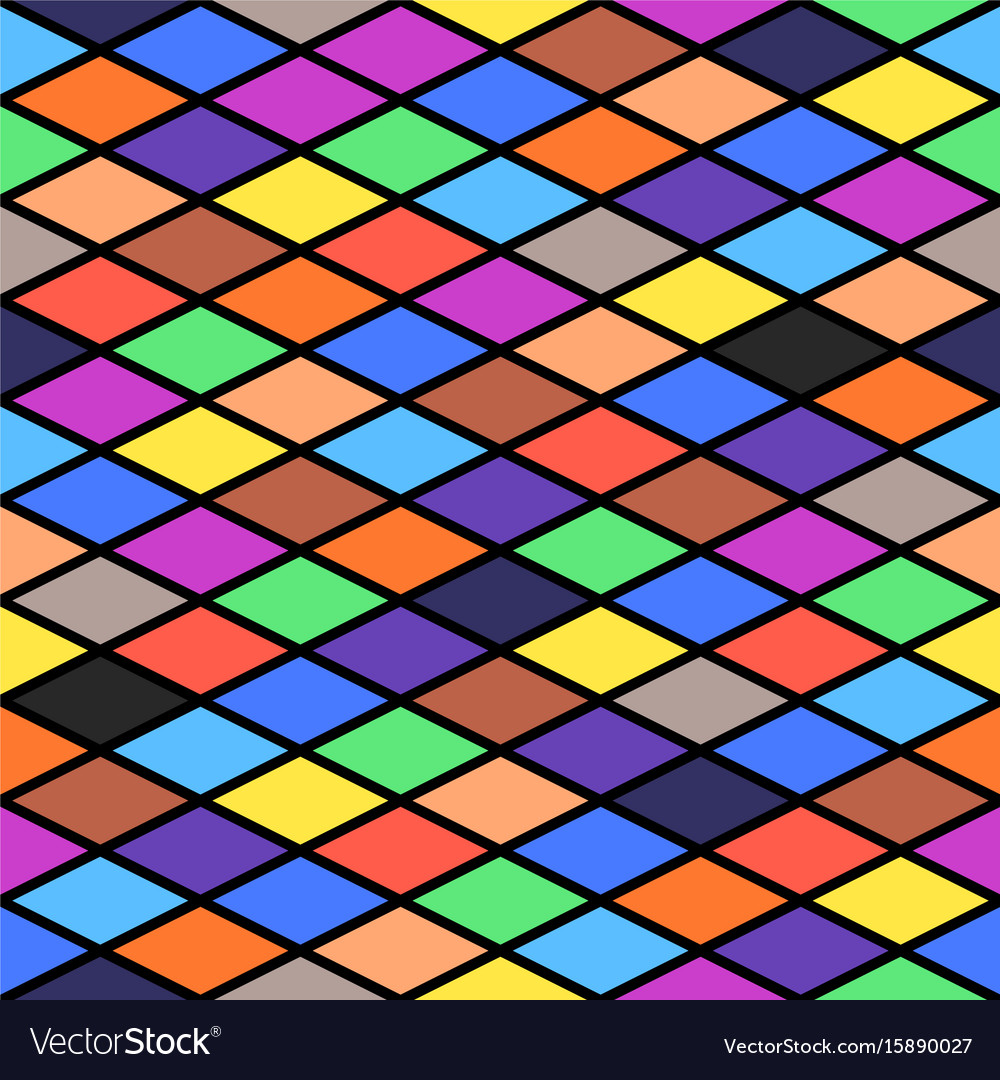 Minimalistic seamless rhombus background in flat vector image