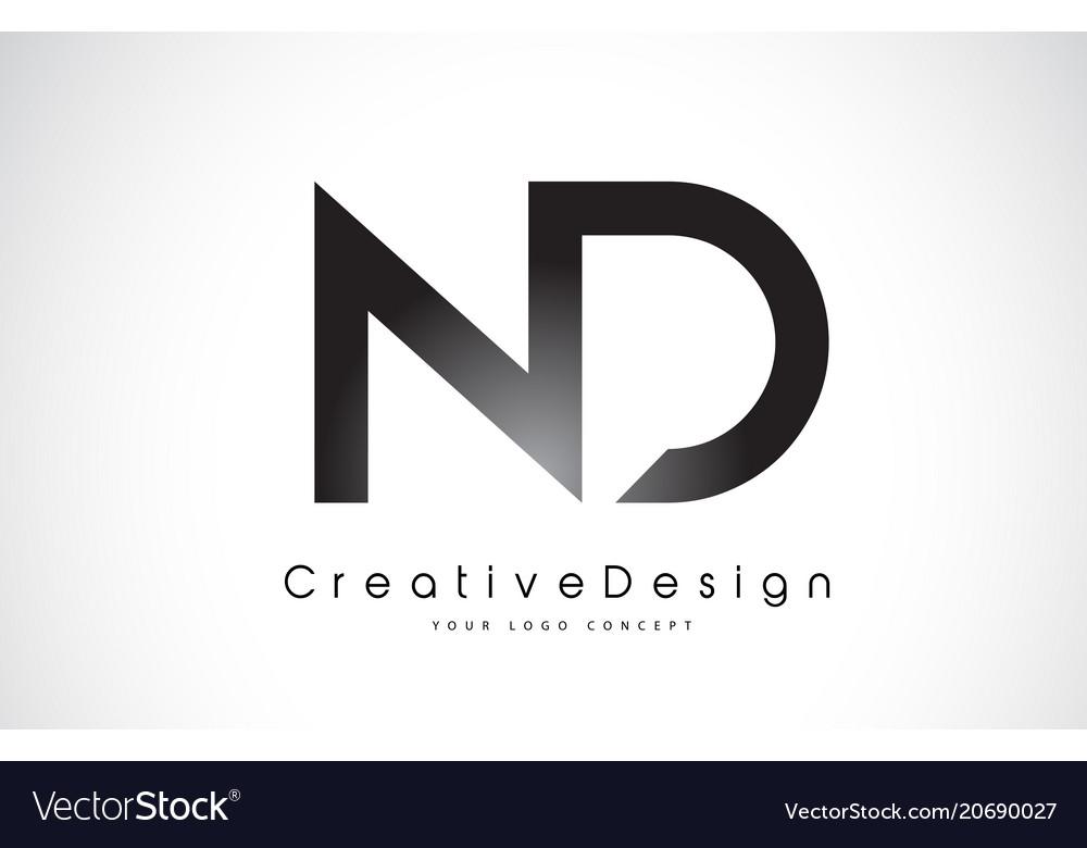 Nd N D Letter Logo Design Creative Icon Modern
