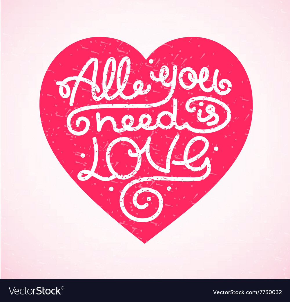 All You Need is Love Background Placard Card