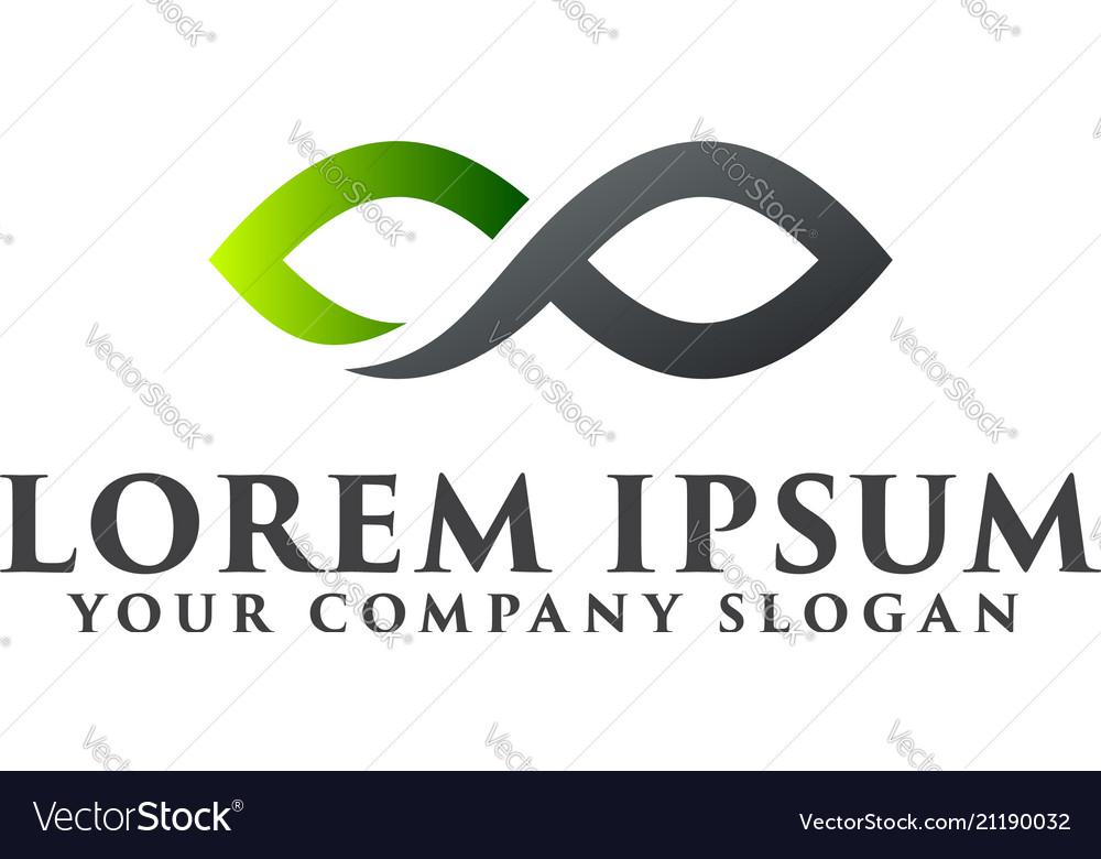 Letter x infinite logo design concept template