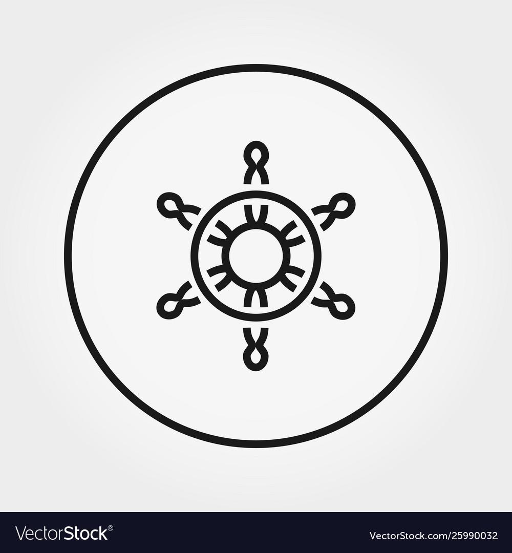 Steering wheel universal icon thin line