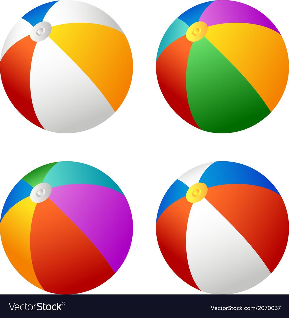 Beach ball set vector image