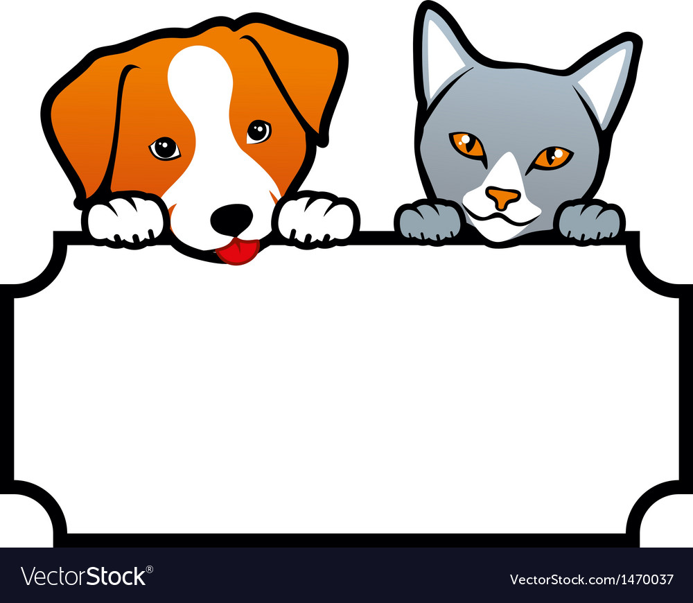 Dog And Cat Royalty Free Vector Image Vectorstock